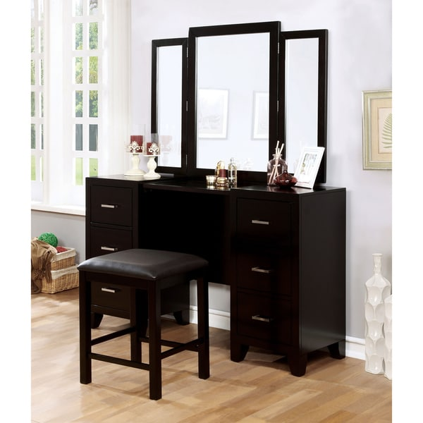 Furniture Of America Elrich Modern 2 Piece Espresso Tri