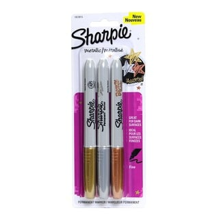 Sharpie Metallic Gold, Silver, Bronze Fine-point Permanent Markers (Pack of 4)