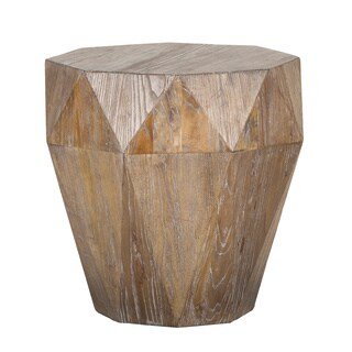 Casablanca Natural Reclaimed Wood Side Table by Kosas Home