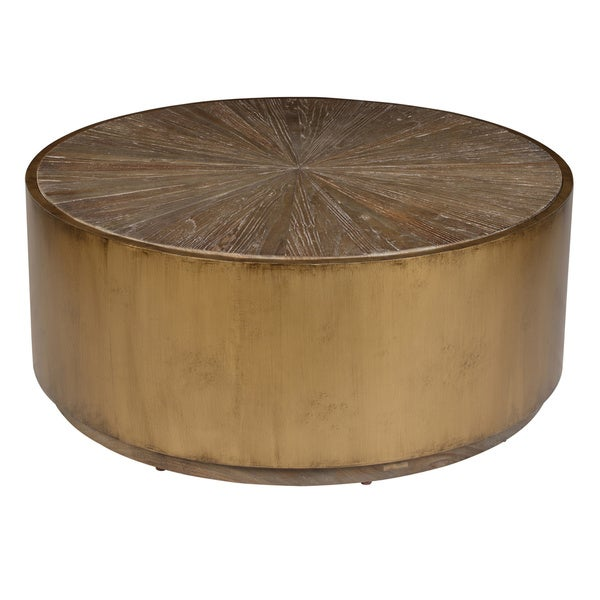 Salsbury Antique Gold Reclaimed Wood Coffee Table By Kosas Home by Kosas Home