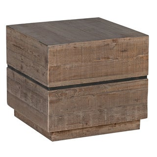 Kosas Home Palmer Natural Square Reclaimed Pine End Table