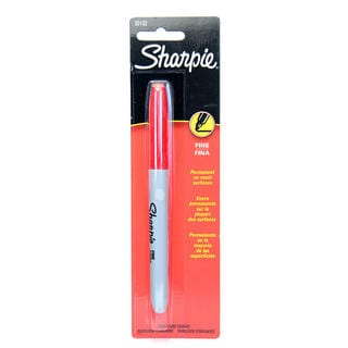 Sharpie Red Fine Point Markers (Case of 18)