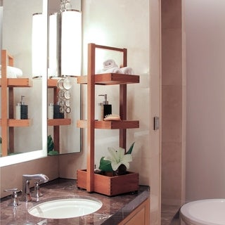 Link to Cambridge Casual Estate Spa Teak Bath Caddy Similar Items in Toothbrush Holders