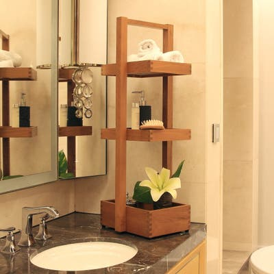 Wood Victorian Bathroom Accessories