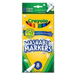 Crayola Classic Color Ultra-clean 8-pack Washable Markers (Pack of 4)