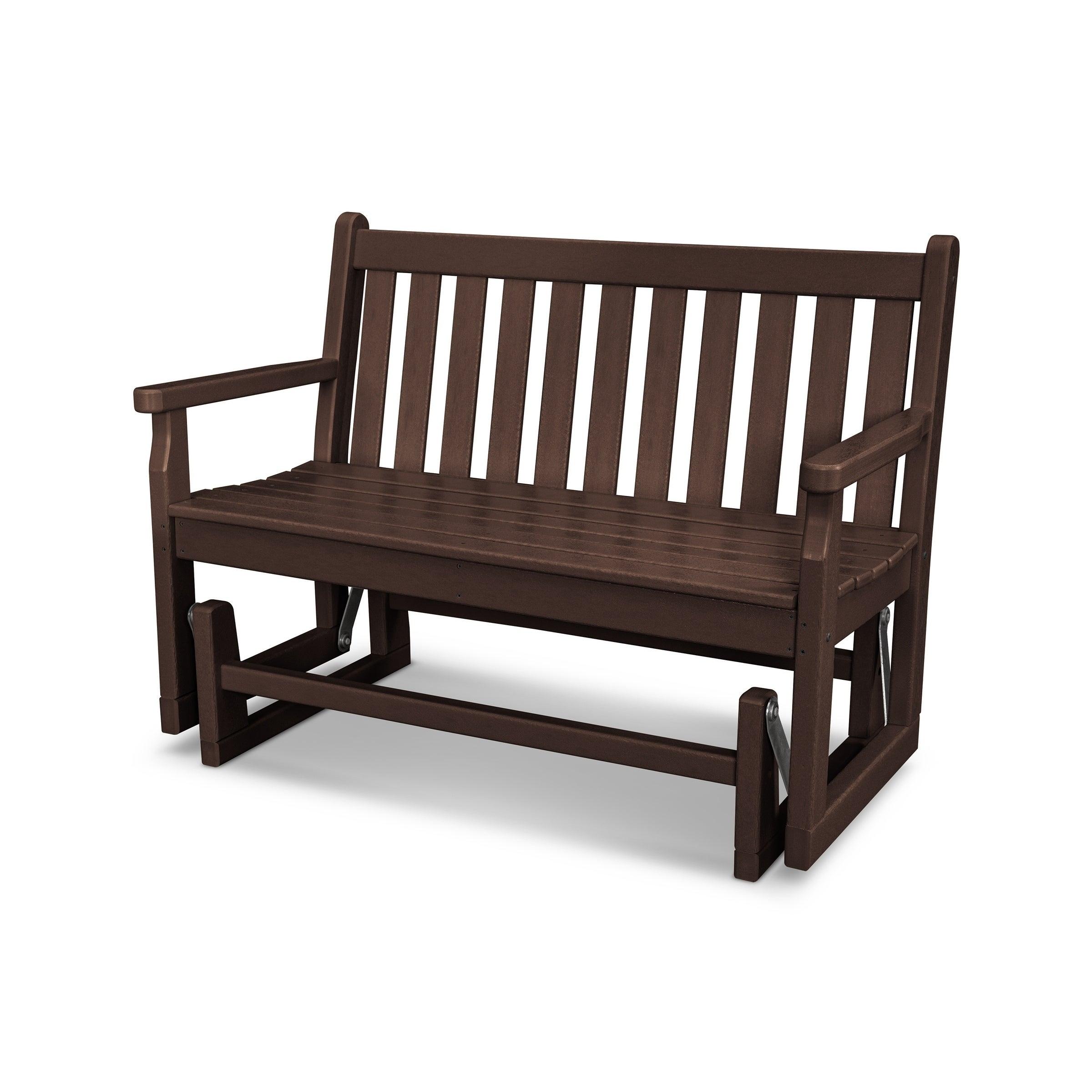 Phenomenal Polywood Traditional 48 Outdoor Garden Bench Glider Machost Co Dining Chair Design Ideas Machostcouk