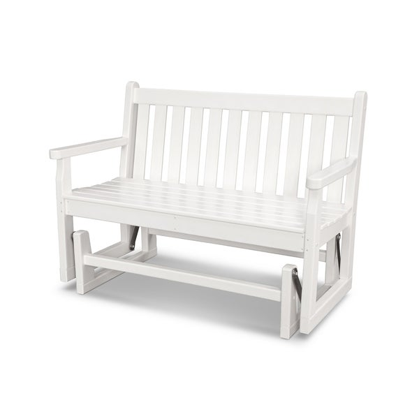 """POLYWOOD® Traditional 48"""" Outdoor Garden Bench Glider"""
