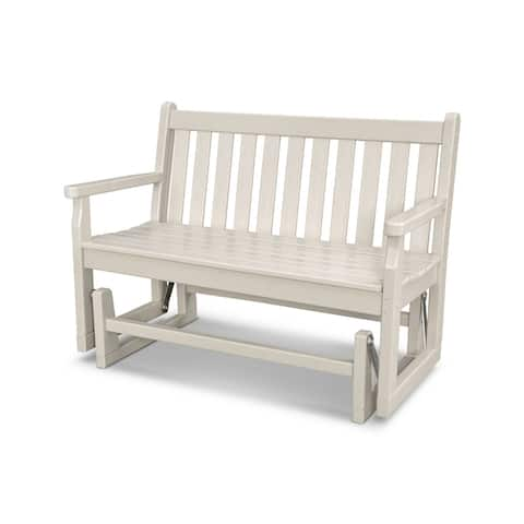 "POLYWOOD® Traditional 48"" Outdoor Garden Bench Glider"