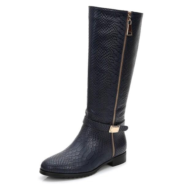 Rosewand Women's 'Selaron' Croc Accent Strap Boots