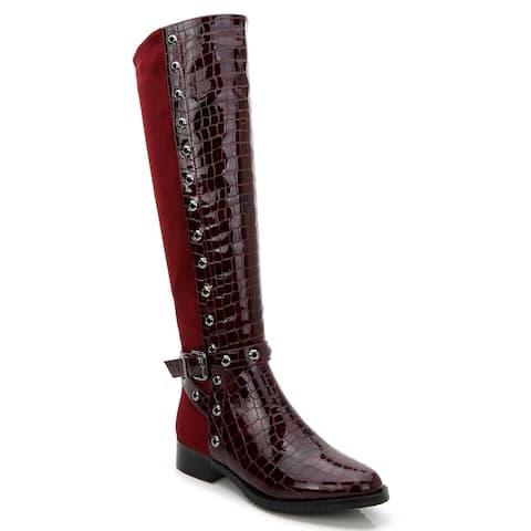 Ann Creek Women's 'Rucio' 2-Tone Perforated Trim Boots