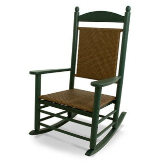 POLYWOOD Jefferson Outdoor Woven Rocking Chair