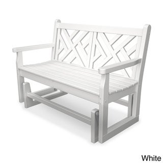 Chippendale Polywood Glider Bench