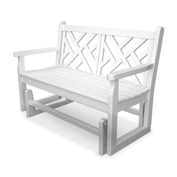 POLYWOOD® Chippendale Outdoor Glider Bench