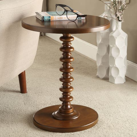 Acme Furniture Acton Round Spindle Accent Table
