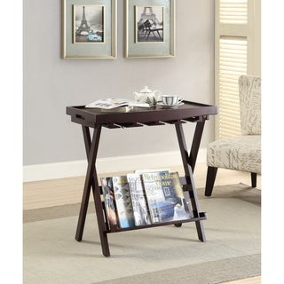 Acme Furniture Westry Espresso Folding Tray Table