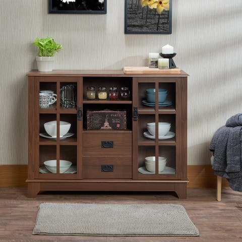Acme Furniture Dubbs Brown MDF/Glass/Plastic Storage Console Table