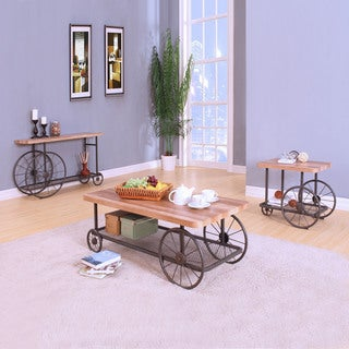 Acme Furniture Francie Grey Metal and Wood Occasional Tables