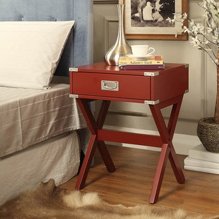 Acme Furniture Babs Wood X-base End Table