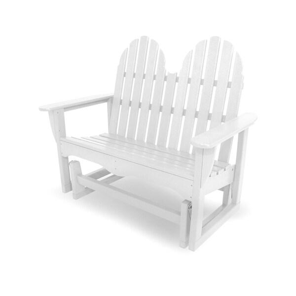 "POLYWOOD® Classic Adirondack 48"" Outdoor Glider Bench"
