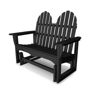 "POLYWOOD® Classic Adirondack 48"" Outdoor Glider Bench"