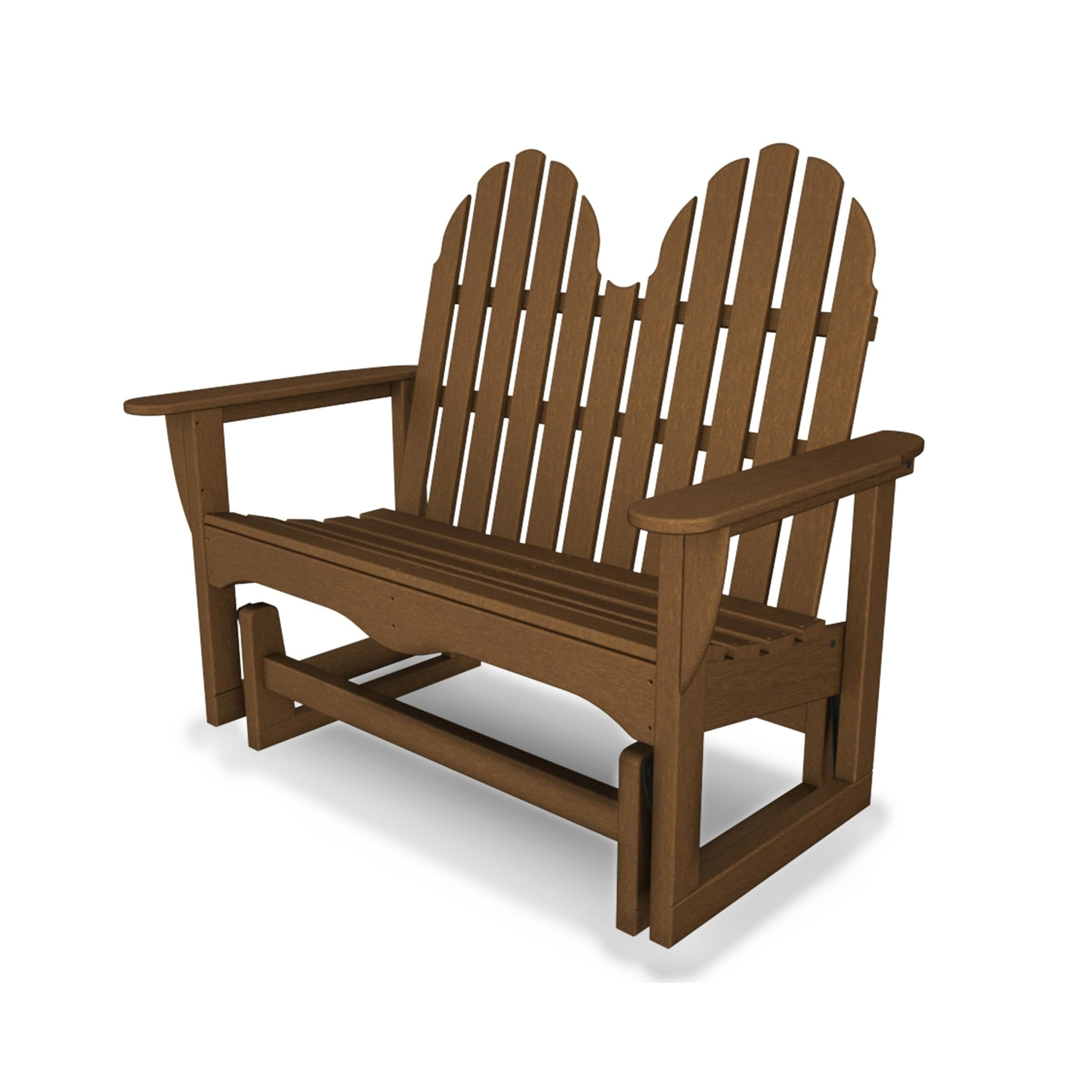 Astounding Polywood Classic Adirondack 48 Outdoor Glider Bench Gmtry Best Dining Table And Chair Ideas Images Gmtryco