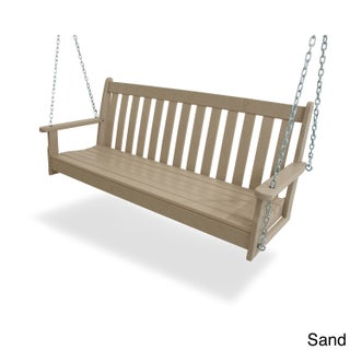POLYWOOD Vineyard 60-inch Outdoor Swing (Option: SAND)