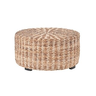 East At Main's Langdon Brown Round Abaca Coffee Table