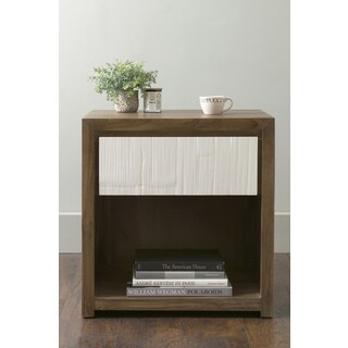 East At Main's Moffat Brown Square Teakwood Accent Table