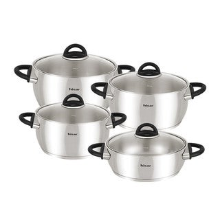 Bahama Black Stainless Steel 9-piece Cookware Set by Hisar