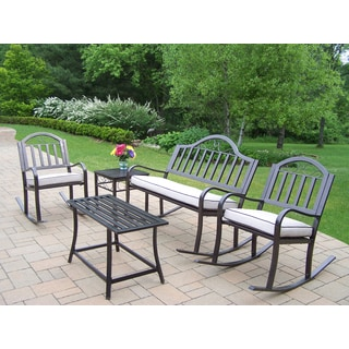 Hometown Oatmeal Cushioned 5-Piece Seating Set