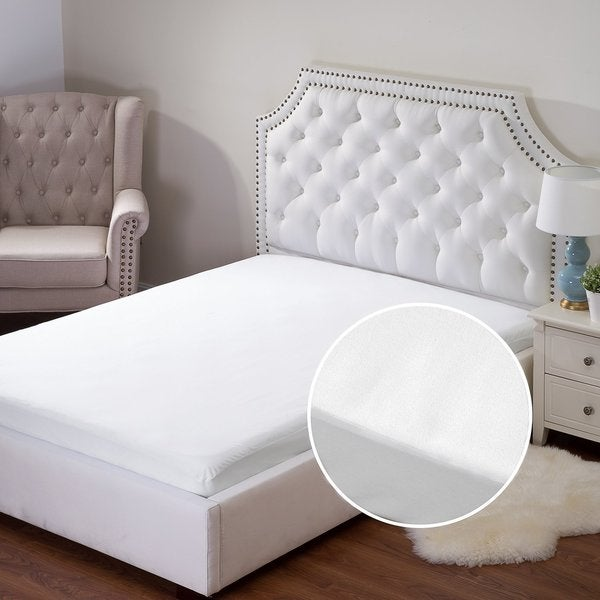 Bedsure Waterproof Vinyl-free Hypoallergenic Cotton Terry Mattress Protector
