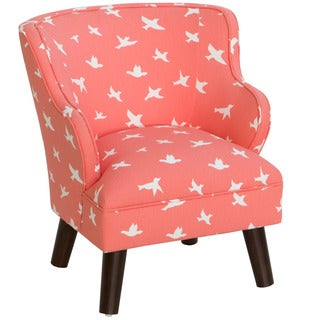Skyline Furniture Kid's Bird Silhouette Bittersweet Upholstered Chair