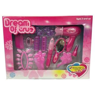Dream of True Kids' Girls' Pink Plastic Beauty Hair and Nail Set