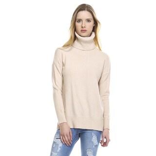 Scarlette Cream Turtle Neck Long-sleeve Sweater