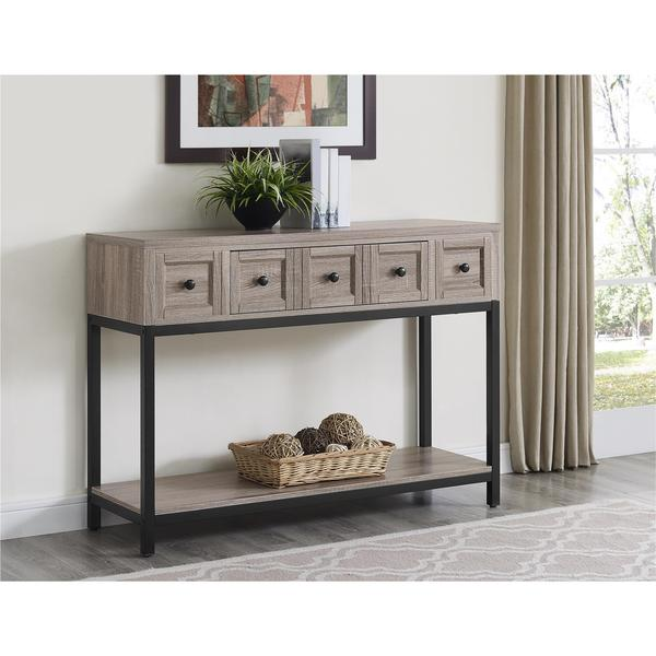 Ameriwood Home Barrett Sonoma Oak Modern Farmhouse Console Table Free