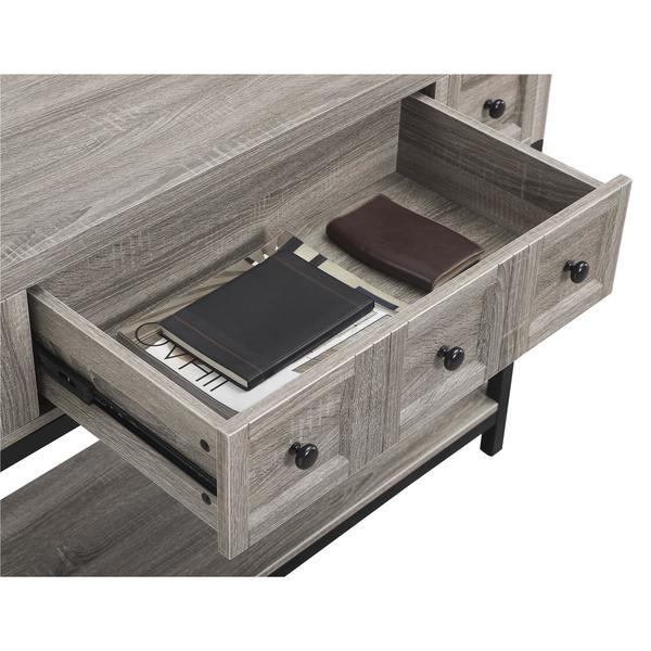 Ameriwood Home Barrett Sonoma Oak Modern Farmhouse Console Table   Free  Shipping Today   Overstock.com   20561910