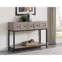 The Gray Barn Latigo Sonoma Oak Modern Farmhouse Console Table