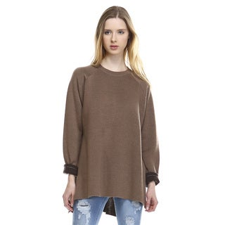 Shelby Brown Long-sleeved Crew-neck Sweater