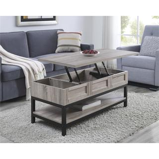 Ameriwood Home Barrett Modern Farmhouse Lift Top Sonoma Oak Coffee Table