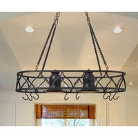 Hammond 2 Light Pot Rack Chandelier - Black