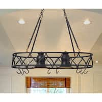 Hammond 2 Light Pot Rack Chandelier