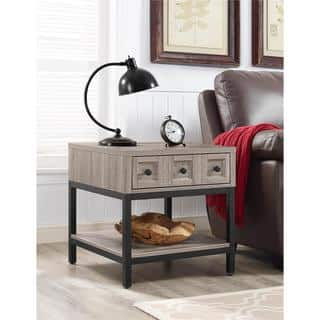 Ameriwood Home Barrett Modern Farmhouse Sonoma Oak End Table|https://ak1.ostkcdn.com/images/products/13929432/P20561930.jpg?impolicy=medium