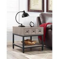 The Gray Barn Fayette Oak End Table