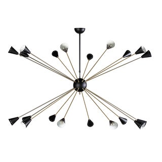 Hans Andersen Home AnkargrandBlack and Brass-finished Steel Chandelier