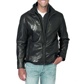Whet Blu Zip-front Black Leather Jacket