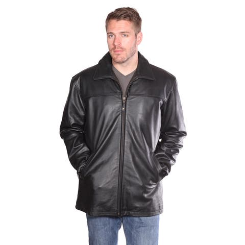 Mason and Cooper Black Nuborn Cowhide Zip-front Leather Jacket