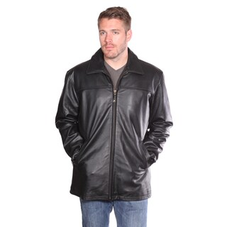 Mason and Cooper Black Nuborn Cowhide Zip-front Leather Jacket (3 options available)