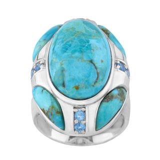 Pangea Mines Compressed Turquoise Ring