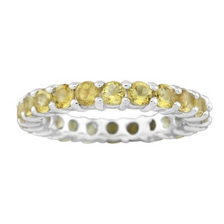 Pangea Mines Citrine Eternity Band Ring