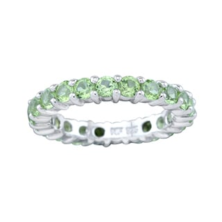 Pangea Mines Peridot Eternity Band Ring